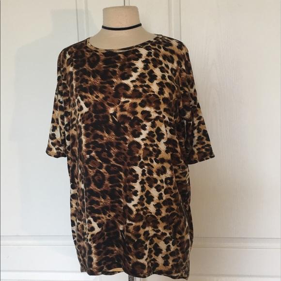 5a3f3578 LuLaRoe Tops   Irma Cheetah Leopard Hi Lo Tunic Top   Poshmark